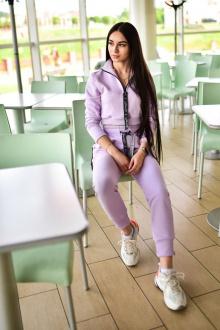 брюки Rawwwr clothing ВТ004-начес лиловый