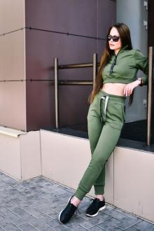 брюки Rawwwr clothing ВТ004-начес хаки
