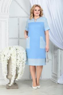платье Ninele 7326 голубой