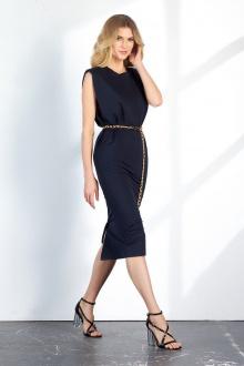 платье Vladini DR1152 темно-синий