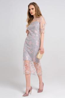 платье Панда 37780z серый