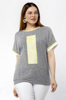 блуза La rouge 3168 серый-набивной