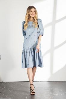 платье Vladini DR1103 голубой