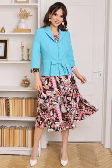 Мода Юрс 2513-1 бирюза-розовый