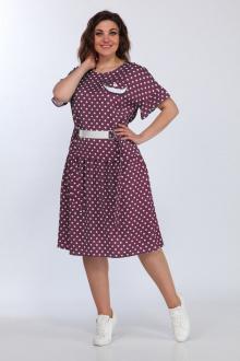 Lady Style Classic 2294/2 бордо_горошек