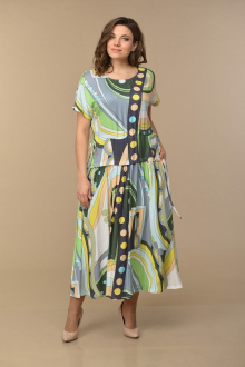 Lady Style Classic 1976/2 зеленый_принт