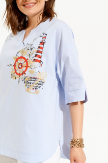 рубашка ELLETTO 3482 бело-голубой