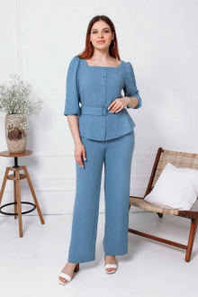 блуза,  брюки Gold Style 2478 серо-голубой