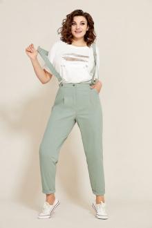 блуза,  брюки Mubliz 567 серо-зеленый