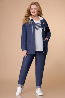 брюки,  куртка,  туника Svetlana-Style 1569 темно-синий