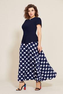 блуза,  юбка Mubliz 563 синий