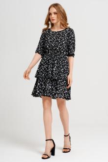 платье Панда 44380z черно-белый