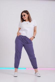 брюки GRATTO 3116 сине-фиолетовый