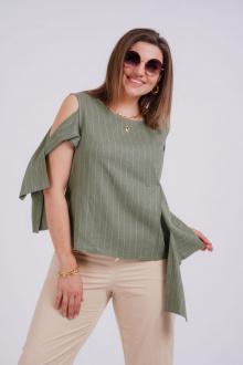 блуза GRATTO 4127 хаки