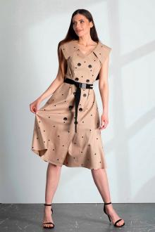 платье Vladini DR1179 бежевый