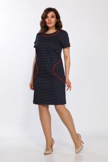 Lady Style Classic 1555/1 темно-синий-красный_горох
