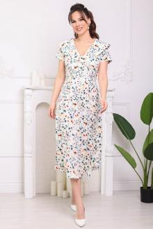 Мода Юрс 2690 молочный_цветы