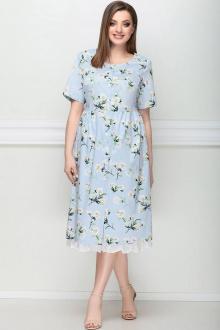 LeNata 12203 голубой-в-цветы