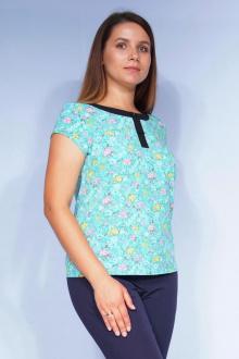 Блуза LUXTEX 0515 бирюза