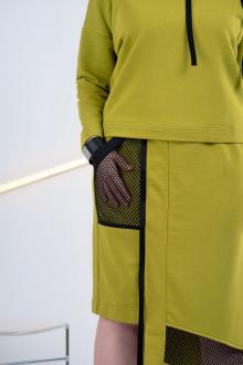 джемпер,  юбка GRATTO 1111 салатовый