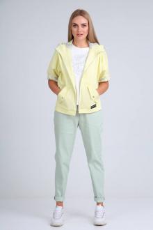 брюки,  куртка,  топ Danaida 2024/1 лимонный+мята