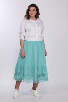 Lady Style Classic 2288 белый-бирюза