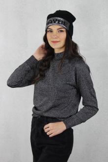 свитер Полесье С3533-19 9С0309-Д43 170,176 черный+серебро