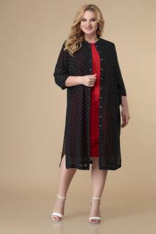кардиган,  платье Romanovich Style 3-2046 красный/черный