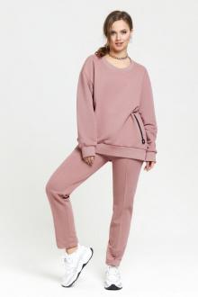 брюки,  джемпер TEZA 2385 пыльно-розовый