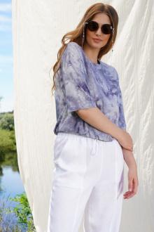 блуза INVITE 1016/1 фиолет_дизайн