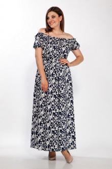 LaKona 1379 синий-белый_цветы
