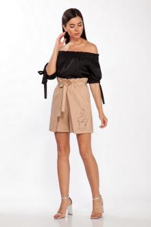 блуза,  шорты LaKona 1382 песок-черный