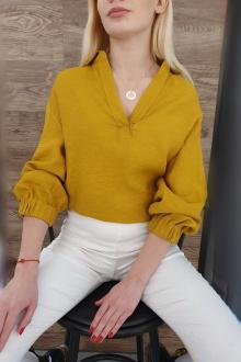 Блуза Moveri by Larisa Balunova 2755B охра