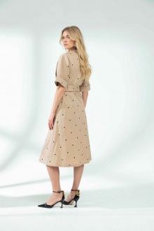 платье Vladini DR1142 бежевый