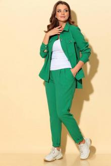 брюки,  куртка Liona Style 694 ярко-зеленый