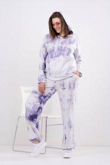 брюки, худи GRATTO 1112 фиолетовый