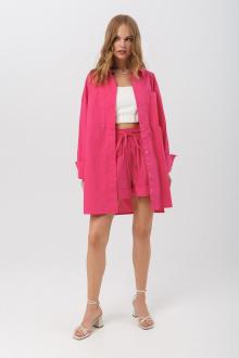 платье,  шорты PiRS 3174 ярко-розовый