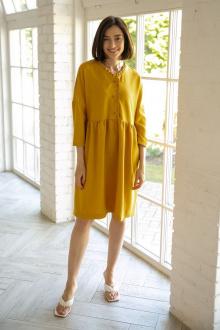 платье Ivera 1008 горчица