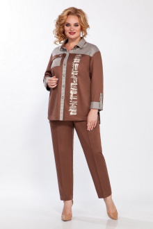брюки,  жакет LaKona 1393 шоколад