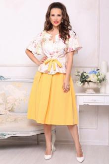 блуза,  юбка Мода Юрс 2688 оранжевый