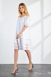 Платье Vladini DR1159/1 белый