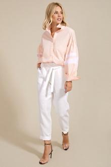 блуза,  брюки Rivoli 2192+5093 персик-молоко