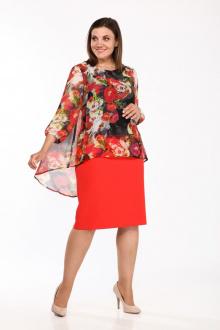 Lady Style Classic 1343/4 красный+принт