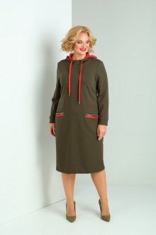 платье SOVITA M-2121 олива