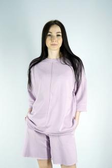 свитшот,  шорты Kivviwear 40194018 светло-лиловый