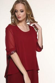блуза,  платье AMORI 9071 бордо