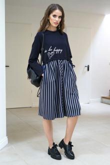 платье Alani Collection 1240 широкая_полоска