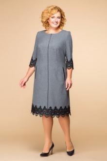 платье Romanovich Style 1-1284 серый\черный
