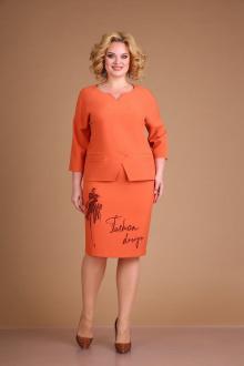 блуза,  юбка Ксения Стиль 1914 терракот