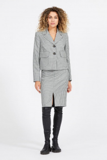 жакет,  юбка Милора-стиль 921 серый